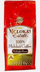 Molokai Estate 100% Coffee - Midnight Roast Whole Bean 1.5 lb Hawaii Aloha