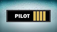 Autocollant sticker macbook voiture avion aeroport pilote pilot epaulette