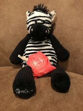 "Scentsy Buddy Zuku Zebra 12"" Plush Retired Stuffed Animal w/ Scent Pack"