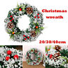 Wall Hanging Christmas Wreath For Xmas Party Door Home Garland Ornament Decor Vv