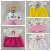 UNICORN DRESSES FITS MY FIRST BABY ANNABELL DOLL