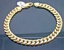 REAL 10K Yellow Gold Miami Cuban Bracelet 6mm, 9 inch, Franco, Link,Cuben,Rope N