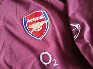 Arsenal Nike Code 7 Champions League Final Travel Polo Shirt Longsleeve Large
