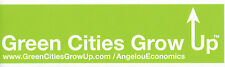 Green Cities Grow Up Bumper Sticker Ecology Environmental World Earth Resources
