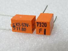 Condensateurs Styroflex 7320pF 7,32nF 63V 1% Siemens KS