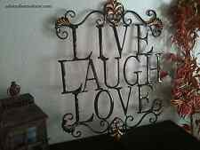 Live Laugh Love Metal Sign WALL DECOR Shabby Chic Cottage Country Style Unique