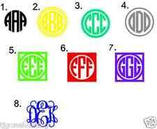 Personalized 8 inch Glitter Monogram, Vinyl Letters, Glitter Monogram Sticker