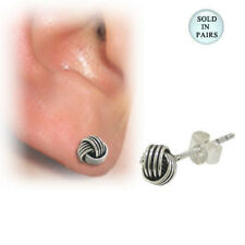 Ear Stud Sterling Silver with Wire Design