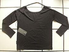 annette görtz Viskose-Stretch Shirt mit Lederband schwarz  Gr. M NEU