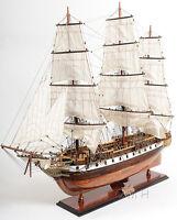 "USS Constellation Frigate Wooden Tall Ship Model 38"" Warship Assembled New"