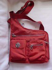 Baggallini Sling Crossbody Messenger Bag Handbag Organizer Back Pack Orange EUC