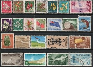 K5 ; NZ 1960 PICTORIALS ; COMPLETE SET / 23 FINE-USED ( CAT. $55 FINE-USED )