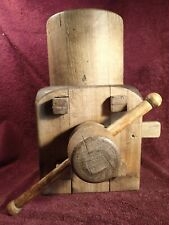 UNIQUE - ANTIQUE HANDMADE ADJUSTABLE WOOD HAT MOLD BLOCK FORM STRETCHER EUROPEAN