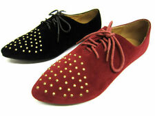 Spot On Casual Lace-up Textile Flats for Women