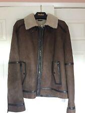 Salvatore Ferragamo Cropped Shearling Jacket size 60