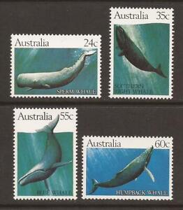AUSTRALIA 1982 SG838/841 Whales MNH (JB18525)