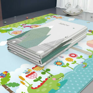 Portable Baby Folding Large Thickened Foam Crawling Soft Mat Waterproof Play Mat