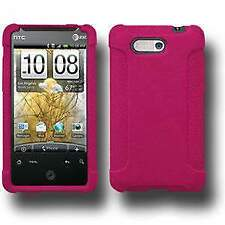 AMZER Silicone Soft Skin Jelly Fit Case Cover for HTC Aria - Hot Pink