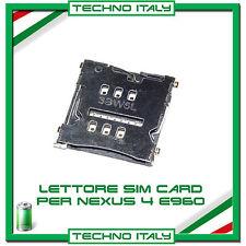 Lettore SCHEDA SIM per LG NEXUS 4 E960 FLAT FLEX