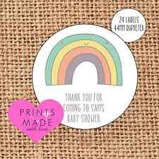 Baby Shower grazie per essere venuti ADESIVI favorisce le etichette Pastello Rainbow