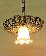 Ceiling Light An Italian Crystal Unusual Vintage Downlight Chandelier Pendant