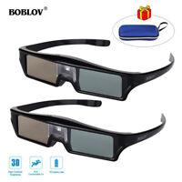 2pcs KX-30 DLP-Link 144Hz Active Shutter 3D Glasses Home Theater 8M Fr Projector