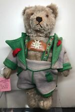 "11.5"" Antique Vintage Steiff Teddy Bear Jointed Mohair 1950's Germany Original S"