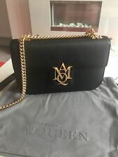 Alexander McQueen Insignia Black Bag With Chain. Current Season RRP £1045.