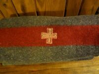 Vintage Original Swiss Army 100% Wool Blanket~ Made in 1939