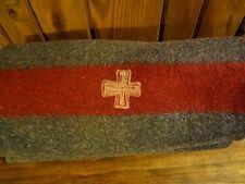 Vintage Original Swiss Army 100% Wool Blanket~ Made in 1939