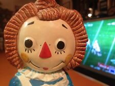 "VINTAGE ORIGINAL RAGGEDY ANN COLLECTIBLE BOOKEND 6-1/4"" H~1970'S~CUTE~"