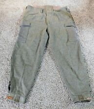"Vintage Woolen Swedish Military Triple Crown Pants Size 108/40"" Waist ~ 1940"