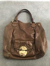 Miu Miu Tan Brown Gold Large Shopper Tote Bag With Dust Bag & Carrier Bag