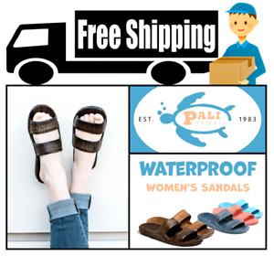 Pali Hawaii Sandals - Womens Summer Beach Slip On 2 Strap Sandals Sizes (5 - 14)