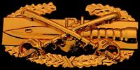 Cavalry Combat Action Badge US Army CAB Military Cav Sabers Insignia GOLD Pin
