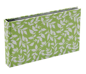 10x Hardback Green Leaf 15 Sheets 30 Photos Slip In Photo Album By Katz 0704G-PA