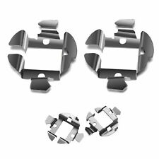 2x H7 Stainless Steel HID Bulb Holder Adaptor Metal Clips Fits VW PASSAT B5.5 B6