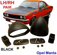 OPEL ASCONA B 400 GRUPPO GR RALLY CAR  BULLET BLACK MIRROR PAIR CLASSIC RETRO