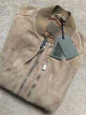 """All Saints Arena """"Kemble"""" abrigo chaqueta de bombardero de cuero de gamuza-Pequeño-Nuevo Y Etiquetas"""