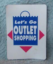 Let's Go Outlet Shopping Thin Magnet Souvenir Travel Refrigerator