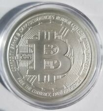 Bitcoin 1 oz .999 fine Solid silver bu commemorative limited crypto currency NEW