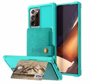 Leather wallet hard Silicon cover Case for Samsung Galaxy models Galaxy NOTE 20