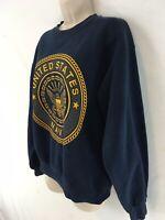 Soffe Womens M Blue United States Navy Vtg USA Made Crewneck Sweatshirt