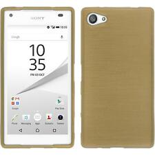 Custodia in Silicone Sony Xperia Z5 Compact brushed oro