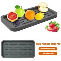 Kitchen Holder Soap Drain Storage Pan Sink Dispenser Silicone Sponge Tray DDFM