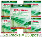5 x MINT FLOSS 250 PICKS Total Plackers Dental Flossers Toothpick Flossing Teeth