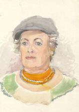Originale antike Aquarelle (bis 1945) mit Porträt- & Personen-Motiv