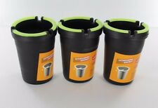 3X Glow in the Dark Cup Style Car Auto Self Extinguishing Ashtray Cup Holder