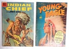 ESZ5601 INDIAN CHIEF #23 YOUNG EAGLE #10 Dell & Fawcett 2.0 GD (1952) Golden Age