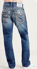 Straight Flap Mega T Men Jeans Size 34 Bottom .